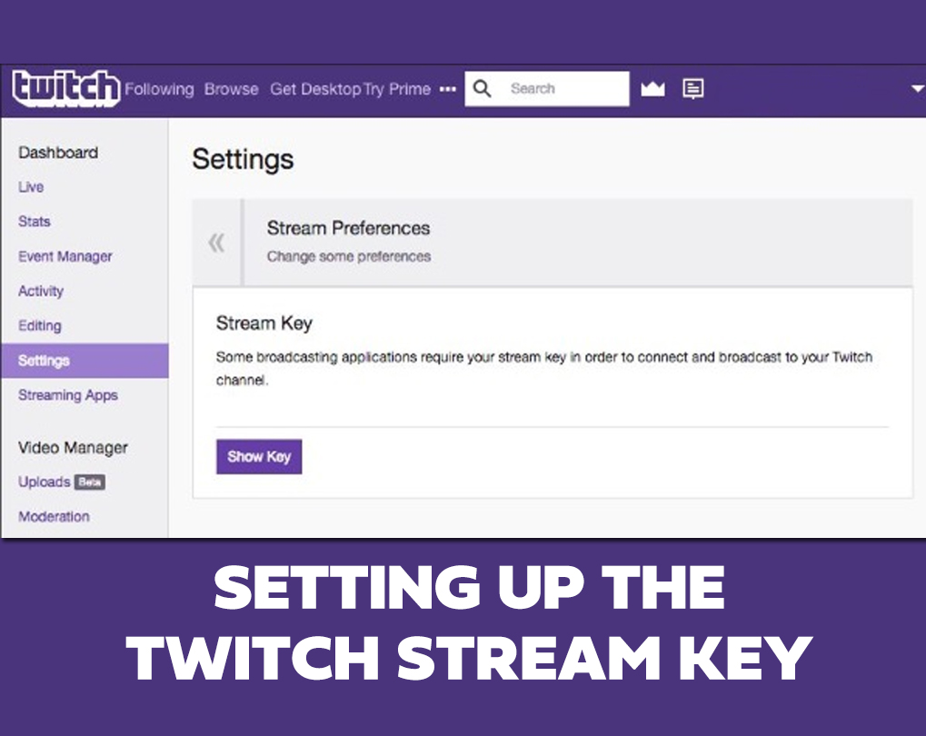 how to find twitch stream key