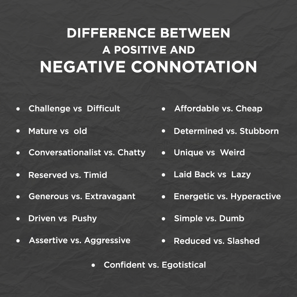 Negative Connotation Synonym